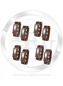 brown wig clips 221x300 What Type of Wig Clips Are There For Lace Wigs?