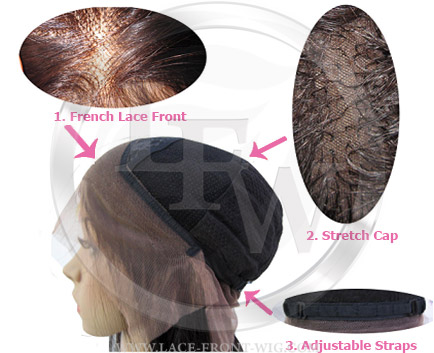 lace front wig cap with adjustable straps