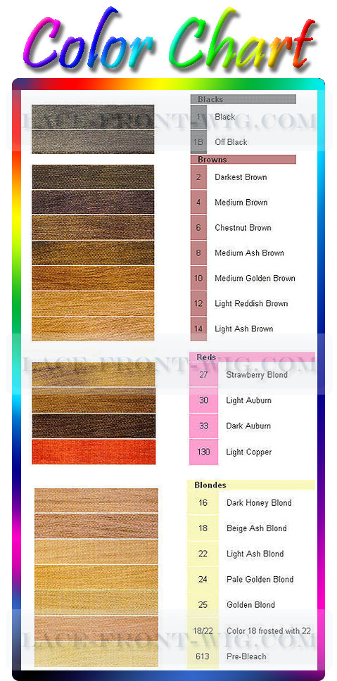 Color Chart for Wigs