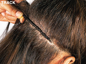 Sewn In Hair Weave On Track