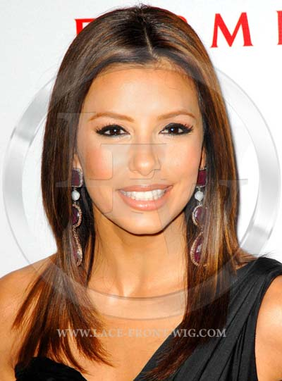 Eva Longoria Celebrity Inspired Silky Straight Lace Wig