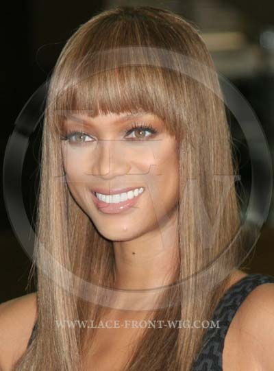Tyra Banks Celebrity Inspired Yaki Lace Wig with Bangs