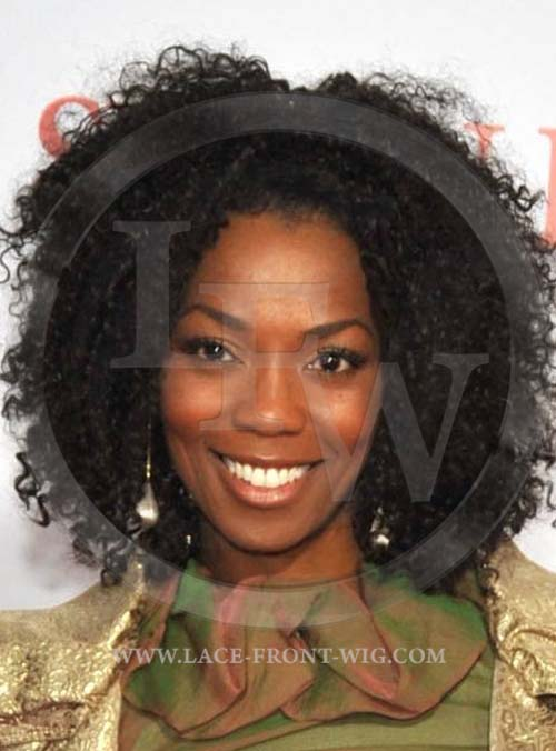 length Loose Spiral Curl Afro Hairstyle - Dark brown afro hair ...