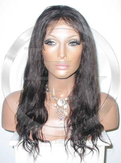 Bodywave Glueless Lace Wig Human Hair 14 Inch Color 2 - Dark Brown