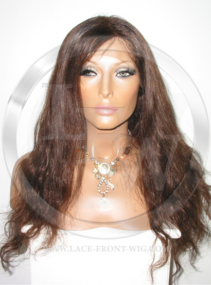 Bodywave Glueless Lace Wig Human Hair 20 Inch Color 4 - Medium Brown