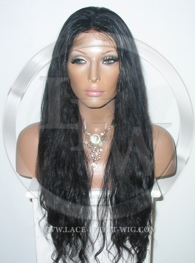 Bodywave Full Lace Human Hair Wig Jet Black - 22 Inch