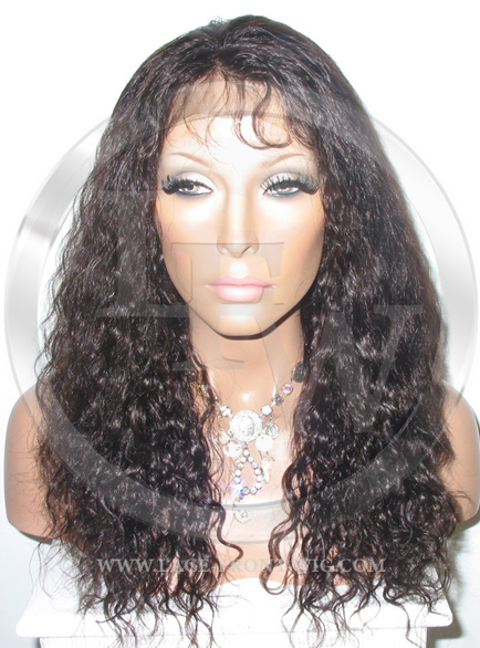 Light Curl with Wave Full Lace Front Wig Color 2 - 16 Inch