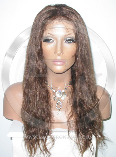 Medium Popular Bodywave Full Lace Front Wig Color 4 - 16 Inch