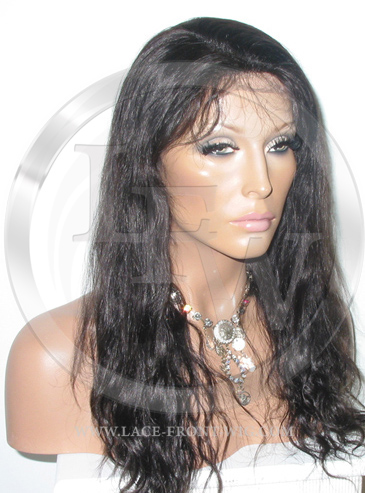 Bodywave Lace Front Wig Human Hair 16 Inch Color 1B