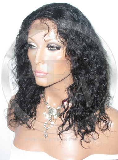 Deepwave Lace Front Wig Human Hair 12 Inch Color 1B