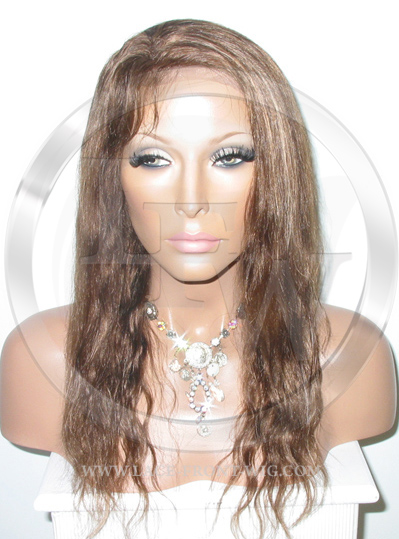 Brown Bodywave Full Lace Front Wig  with Blonde - 14 Inch
