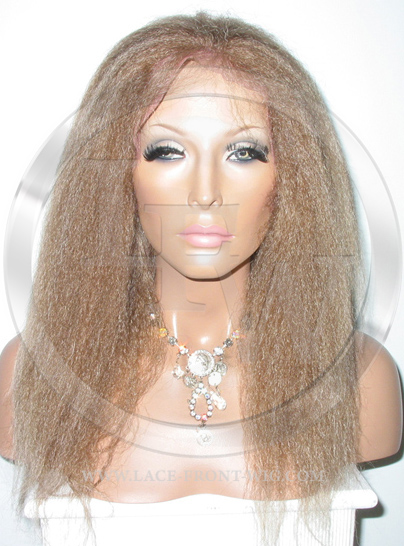 Yaki African American Full Lace Front Wig Color 4 27 - 16 Inch