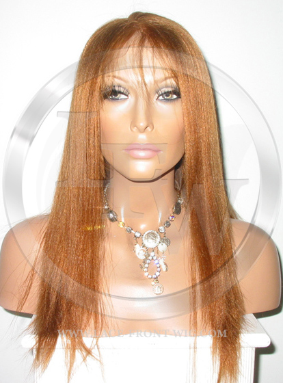 Yaki African American Full Lace Wig Color 30 - 16 Inch