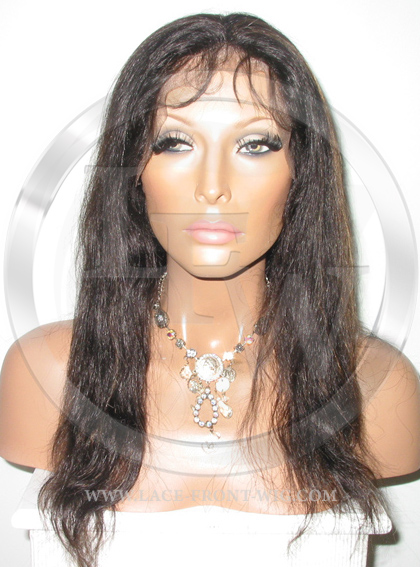 Natural Straight Full Lace Wig Color 1b 30 - 14 Inch