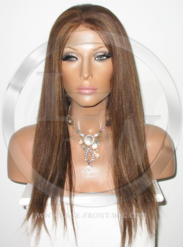 Yaki Full Lace Front Wig Color 4 27 - 16 Inch