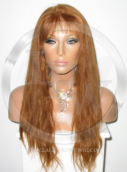Straight Full Lace Front Wig Color Auburn - 16 Inch