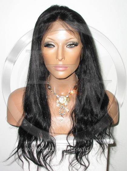 Bodywave Full Lace Front Wig Color Black - 18 Inch
