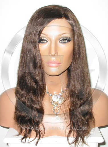 Natural Straight Full Lace Human Hair Wig Color 4 - 12 Inch