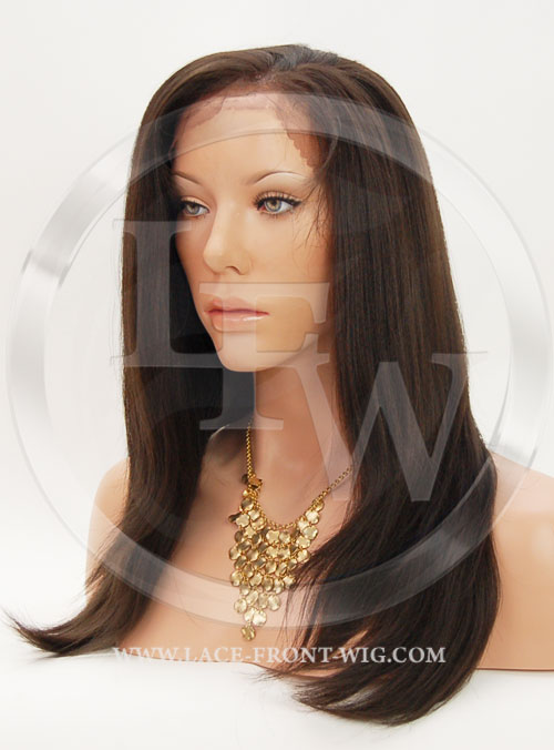 Silky Straight Synthetic Lace Front Wig 16 Inch Color 4