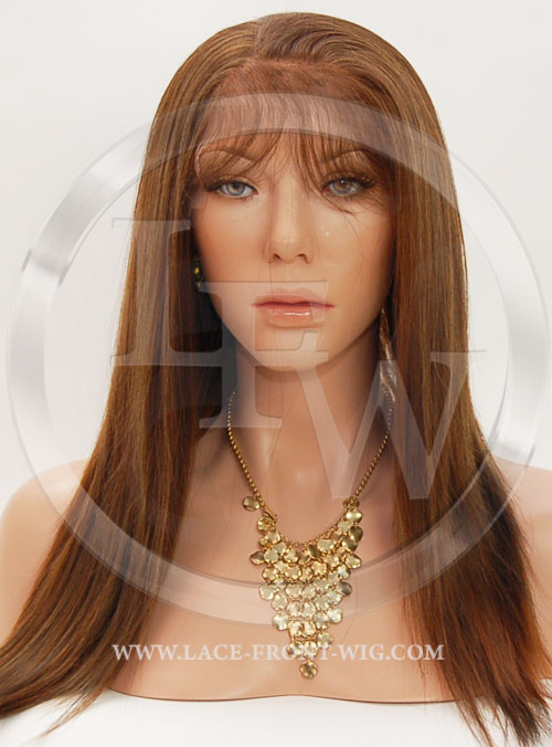 Silky Straight Synthetic Lace Front Wig 16 Inch Color 4/27