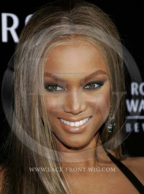Tyra Banks Celebrity Inpsired Silky Straight Lace Wig