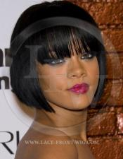 Rhianna Bob Cut Celebrity Inspired Lace Wig with Bangs