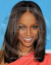 Tyra Banks Celebrity Inspired Yaki or Silky Straight Lace Wig