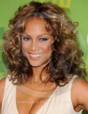 Tyra Banks Celebrity Inspired Curly Lace Wig