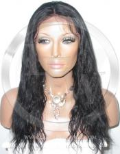 Bodywave Glueless Lace Wig Human Hair 14 Inch Color 1 - Jet Black