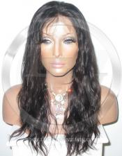 Bodywave Glueless Lace Wig Human Hair 16 Inch Color 2 - Dark Brown