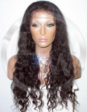 Bodywave Glueless Lace Wig Human Hair 20 Inch Color 2 - Dark Brown