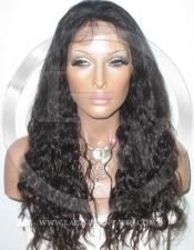 Curly Glueless Lace Wig Human Hair 18 Inch Color 1b - Off Black