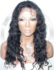 Deepwave Glueless Lace Wig Human Hair 16 Inch Color 1b - Off Black