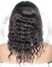 Deepwave Glueless Lace Wig Human Hair 10 Inch Color 2 - Dark Brown