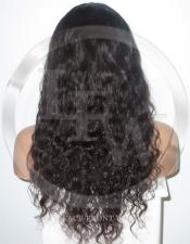 Deepwave Glueless Lace Wig Human Hair 18 Inch Color 2 - Dark Brown