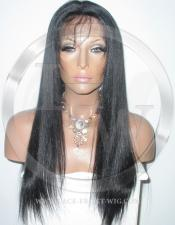 Silky Straight Silk Top Lace Wig 18 Inch Color 1 - Jet Black