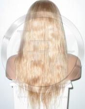 Silky Straight Glueless Lace Wig Human Hair 20 Inch Color 27/613 - Blonde Highlights