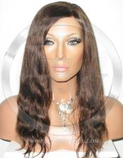 Silky Straight Glueless Lace Wig Human Hair 12 Inch Color 4 - Medium Brown