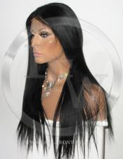Yaki Straight Silk Top Lace Wig 22 Inch Color 1 - Jet Black