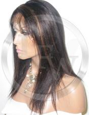 Silky Straight Lace Front Wig Human Hair 14 Inch Color 1B/30