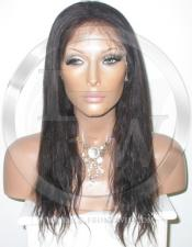 Straight Full Lace Human Hair Wig Color 1b 16 Inch