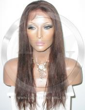 Yaki Straight Lace Front Wig Human Hair 20 Inch Color 2