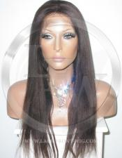 Yaki Straight Lace Front Wig Human Hair 18 Inch Color 2