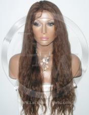 Long Bodywave Full Lace Wig Medium Brown Color - 20 Inch