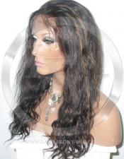 Curly Lace Front Wig Human Hair 14 Inch Color 1B/30