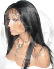 Silky Straight Lace Front Wig Human Hair 14 Inch Color 1