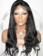 Black Bodywave Full Lace Wig Human Hair Wig - 18 Inch