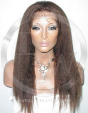 Yaki African American Brown Full Lace Front Wig - 16 Inch