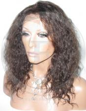 Curly Lace Front Wig Human Hair 12 Inch Color 2
