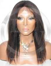 African American Yaki Full Lace Wig Color 1b 33 - 12 Inch